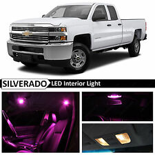 12x Pink Premium Interior LED Lights Package for 2007-2013 Chevy Silverado