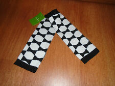 New Womens Kate Spades Arm Warmers Signature Bow Black White