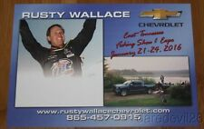 2016 Rusty Wallace Chevy East Tennessee Fishing Show NASCAR blankback postcard