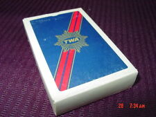 Vintage Sealed Playing Cards TWA Airlines Aviation Airplane Game Deck Fun