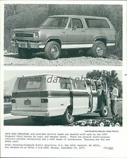 1975 Plymouth 1976 Trail Duster SE and Voyager Sport Original News Service Photo