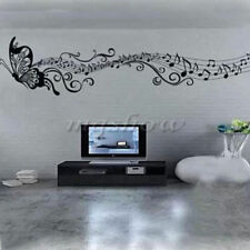 Music Butterfly DIY Removable Art Vinyl Wall Stickers Decal Mural Home Decor