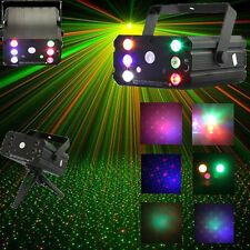 6 LEDs Mini Portable Red & Green Laser Stage Light Projector Laser Stage Light