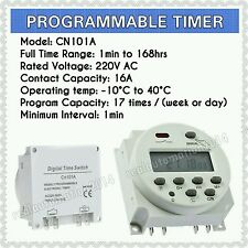 New AC 220V Digital LCD Power Programmable Timer Time Switch 16A Relay