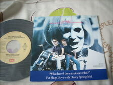 "a941981 Pet Shop Boys with Dusty Springfield 7""  What Have I Done to Deserve This ? Made in Japan"