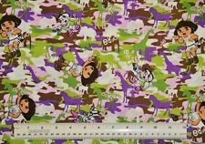 1 yard 100% cotton fabric cloth material Springs Dora Wild Life Camo quilting