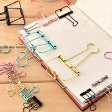 3Pcs/set Metal Hollow Tail Binder Paper Clips Clamp Office Foldback Random Color