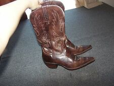 CHARLIE 1 HORSE by Lucchesse Brown Leather Cowboy Western Boots 10 B 10B I4513
