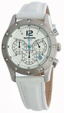 NEW Lambretta Luigi Mid White Leather Chronograph Womens Watch 2120/whi