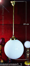 Superb 1940s large art deco School House Globe light pendent lantern chandelier