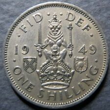 *GREAT BRITAIN, Vintage 1949 ONE SHILLING COIN, Almost Uncirculated Nice Details