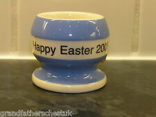 T G GREEN CORNISH BLUE CORNISHWARE HAPPY EASTER EGGCUP SPECIAL EDITION 2005 RARE