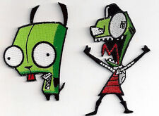 Set 2 Invader Zim Anime  logo - patch Aufnäher