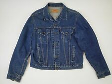 VINTAGE LEVI STRAUSS Classic Blue Jean Denim Jacket Coat - Men's 48 XL