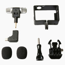 3.5mm Mini Mic Adapter + Stereo Microphone&Housing For GoPro HD Hero 3 3+ 4