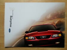 FORD MUSTANG 1999 large format prestige brochure prospekt catalogue - Inc GT