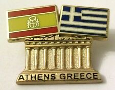 Pin Spilla Olimpiadi Athens 2004 Greece/Spain Flags