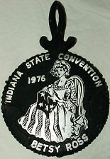 Futiques Indiana Beta Sigma Phi State Convention 1976 Betsy Ross Cast Trivet