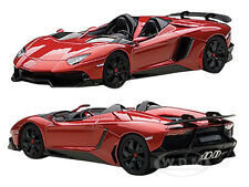 LAMBORGHINI AVENTADOR ROADSTER J RED 1/43 DIECAST MODEL CAR BY AUTOART 54651