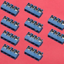 10PCS 5.08mm KF301-4P  Blue Connect Terminal Blue Screw Terminal Connector 4 Pin