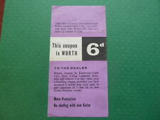 Vintage Kotex '6d Off' Coupon 1960 Rare
