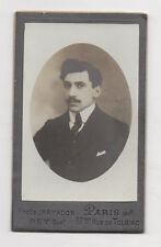 CDV Carte de visite Homme Moustaches MAYADON Paris Vers 1900 Tirage d'époque