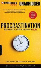 NEW 4 CD Procrastination Why You Do It, What to Do about It Now by Yuen & Burka