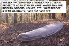 NEW VORTEX WATERGUARD HEAVY DUTY WATERPROOF KAYAK/CANOE COVER UP TO 13' LONG!