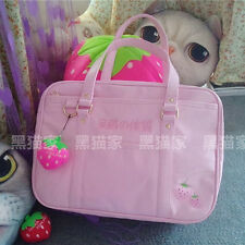 Kawaii Pink JK Uniform Strawberry Girls School Bag Briefcase handbag Lolita Gift