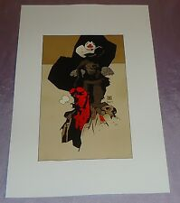 HELLBOY~CANADIAN EXPO IMAGE~ ART PRINT~MIKE MIGNOLA/HELLBOY~MAPLE LEAF COWBOY