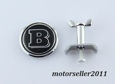 New Brabus 45mm Chrome Front Hood Bonnet Emblem Badge For Mercedes Benz