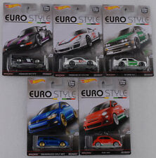 2016 Euro style car culture 5 pc set porsche 993 m3 Golf FIAT 1:64 Hot wheels