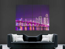 FLORIDA MIAMI VICE CITY BRIDGE WALL POSTER ART PICTURE PRINT LARGE  HUGE