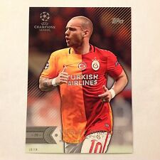 WESLEY SNEIJDER #69 Galatasaray AS 2016 Topps UEFA Champions 5X7 GOLD #/10 made