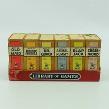 Vintage Russell Games Big Little Card Games Set Library Old Maid Rummy Dr. Quack