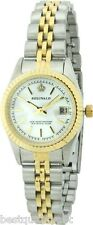 NEW-REGINALD TWO TONE S/STEEL+MOP DIAL WATERPROOF,DATE CLASSIC LADY'S WATCH-NEW