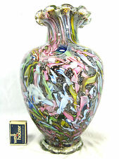 "XL Dino Martens ""Tutti Frutti""  ""rest of the day"" Murano glass vase   28,5 cm"