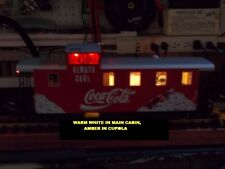 "LGB Led Smd Caboose lighting 6"" x 2"" x 4"" Warm White-two Solid Red Tail Lights"