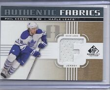 11-12 2011-12 SP GAME USED PHIL KESSEL 'F' GOLD AUTHENTIC FABRICS JERSEY LEAFS