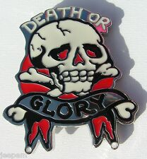 Death or Glory belt buckle Skull and Crossbones to attach to own belt New