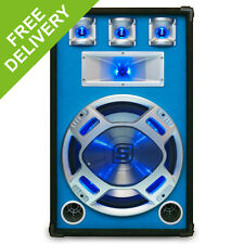 """Skytec 15"""" Inch PA Woofer Music Reactive Blue LED Lighting Disco Speaker 800W"""