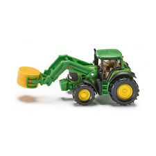 Siku 1379 John Deere Traktor mit Ballenzange grün (Blister)  NEU!  °