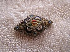 Vintage Antique Art Deco Micro Mosaic Pin Marked Italy