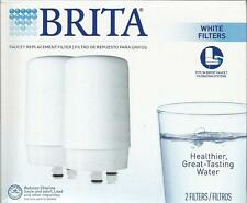 NEW Brita White On Tap Faucet Replacement Filters 2 Count Package
