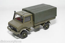 SOLIDO MERCEDES UNIMOG MILITAIRE MILITARY ARMY NEAR MINT CONDITION