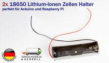 2x 18650 Batterie Akku Halter Clip für lion lithium ionen Rundzellen 3,7 Volt.