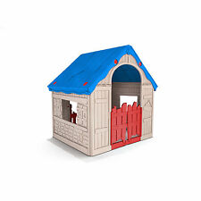 Keter Wonderfold Outdoor Backyard Foldable Playhouse For Kids Toddlers Play Hous