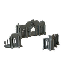 3 Part Wargaming Gothic Ruin Fantasy Terrain Building 28mm