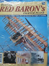 BUILD THE RED BARON'S FIGHTER PLANE FOKKER DR1  HACHETTE  ISSUE 76  NEW SEALED