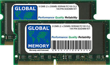512MB (2 x 256MB) PC100 100MHz 144-PIN SDRAM SODIMM MEMORY RAM FOR LAPTOPS